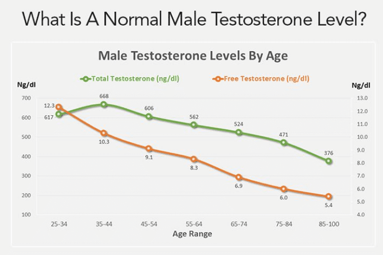 How Much Testosterone Should A Man Have?